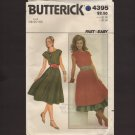 Butterick 4395 Misses Dress, Petticoat and Sash Sewing Pattern Fast & Easy Bust 40 42 44 1980s