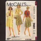McCall's 7461 Misses Jacket and Flared Skirt Size 40 2 sleeve lengths Sewing Pattern Bust 44 1980s