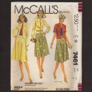 McCall's 7461 Misses Jacket and Flared Skirt Size 42 2 sleeve lengths Sewing Pattern Bust 46 1980s