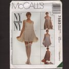 McCalls 7583 Misses Teddy, Dress or Top Sewing Pattern Size 12 14 Bust 36 1990s