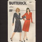 Butterick 4540 Misses Button Front Dress Fast and Easy 18-20-22 Bust 40 42 44 1980s