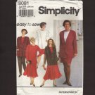 Simplicity 8081 Women's Pants, Skirts, Top and Jacket Sewing Pattern 18W-24W Bust 40 42 44 46 1990s