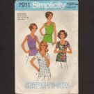 Vintage Simplicity 7911 Women's Tops Simple-To-Sew Sewing Pattern Sz W 40 42 Bust 44 46 1970s