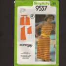 Simplicity 9537 Knit One Shoulder Dress Super Jiffy Sewing Pattern Sz 6 8 Bust 30.5 31.5 1980s