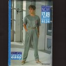 Butterick 6124 See&Sew Misses Top Tapered Pants Sewing Pattern Bust 34 36 38 1990s
