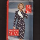 Butterick 946 See & Sew Misses Double-Breasted Dress Long Sleeves Bust 30.5 31.5 32.5 34 36 1990s