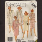McCall's 2360 Misses Coat Long Jacket Dress Sewing Pattern Size 14 Bust 36 1980s