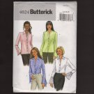 Butterick 4024 Set of 4 Blouses sleeve flounce Goth Sewing Pattern Bust 36 38 40 2000s