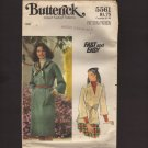 Misses Tubular Dress and Top Butterick 5561 Size Large 16-18 Bust 38 40 1970s