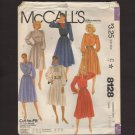 Misses Long Sleeved Dress Gathered Skirt McCall's 8128 Sewing Pattern Sz 16 - 20 Bust 38 40 42 1980s