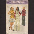 Vintage Misses Vest, Skirt & Pants Simplicity 5800 Sewing Pattern Size 12 Bust 34 1970s