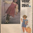 Vogue 2645 Children's Jumper or Jumpsuit and Blouse 2 lengths Very Easy Size 3 1980s