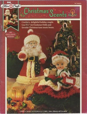 Crochet Pattern Miniature Santa Claus Doll by BluebearyTreasures
