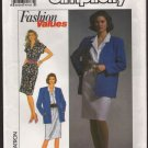 Simplicity 9646 Misses Dress and Unlined Jacket Sewing Pattern Size 8 - 18 Bust 31.5 - 40 1990s