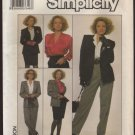 Simplicity 8853 Misses Blouse Skirt Pants and Lined Jacket Sewing Pattern Size 12 Bust 34 1980s