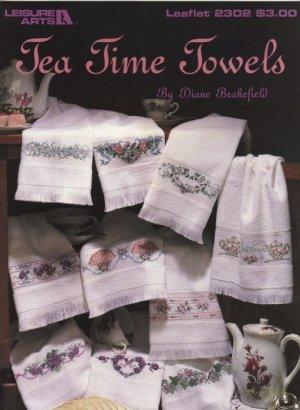 Tea Time Towels Cross Stitch borders by Diane Brakefield Leisure Arts Leaflet 2302