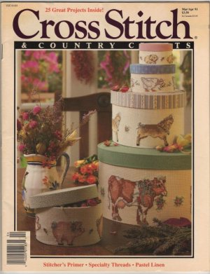 Cross Stitch & Country Crafts Magazine Mar/Apr 1991 Stitcher's Primer, Barnyard Animals