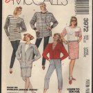 McCall&#39;s 3972 Misses Cardigan Top Skirt and Pants Sewing Pattern Size 18, 20 Bust 40, 42 1980s