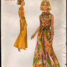 Vintage Butterick 5073 One Piece evening length Culottes Jumpsuit Sewing Pattern Sz 12 Bust 34 1960s