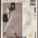 McCall's 3630 Stretch Knit Jacket Top Pants Sewing Pattern Dolman Sleeves Size 12 Bust 34 1980s