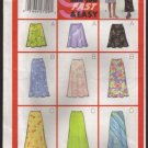 Easy Bias A-line Skirts 3 Lengths Butterick 5431 Sewing Pattern Sz 6 8 10  Waist 23 24 25 2000s