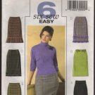 Easy Straight Skirts Butterick 4613 Sewing Pattern Misses Sz 6 8 10 12  Waist 23 24 25 26.5 2000s