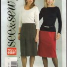 Butterick 4580 See & Sew Misses Straight Skirt Sewing Pattern Sz 6 8 Waist 23 24 2000s