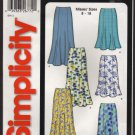 Misses Gored Skirt Simplicity 5524 Sewing Pattern Sz 8 - 18 Waist 24 25 26.5 28 30 32 2000s