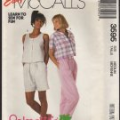 Misses&#39; Tops, Pants and Shorts McCall&#39;s 3595 Sewing Pattern Size 14 16 Bust 36 38 1980s