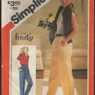 Simplicity 5432 Misses' Baggie Pants with Tapered Legs Sewing Pattern Size 10 Waist 24 1980s
