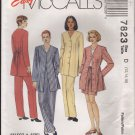 Misses' Shorts Pants Unlined Jacket McCall's 7823 Size 12 14 16 Sewing Pattern Bust 34 36 38 1990s