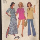 Simplicity 6989 Misses Maternity Pullover Caftan or Top and Pants Sewing Pattern Bust 32.5 1970s
