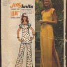 Vintage Pants, Tunic Top, Tunic style Dress Simplicity 5667 Sewing Pattern Jiffy Knits Bust 38 1970s