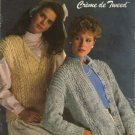 Bernat Crème de Tweed - Book No 563 Ladies Sweaters and Vest To Knit 4 styles