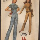Vintage Simple-to-Sew Jiffy Jumpsuit Simplicity 9142 Sewing Pattern Bust 38 1970s Knit Fabrics