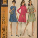 Maternity Dress Sewing Pattern McCall's 2086 Retro Mod 1960s A-line Coatdress Bust 38