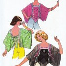 Vintage Simplicity 7897 Misses Gypsy Handkerchief Tie Back Tops Sewing Pattern 1970s Bust 32.5 34