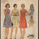 1970s A-line Collarless Dress Simplicity 6079 Sewing Pattern Half-Size Bust 45 47 Size 22½ & 24½