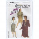 Simplicity 7054 Blouse, Skirt, Lined Jacket by Phyllis Sidney Sewing Pattern Size 24.5 Bust 47 1980s