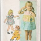 Simplicity 7988 Sewing Pattern Toddler Dress Top Pants Size 2 Vintage 1977 Chest 21