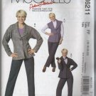 McCall's 6211 Vest, Jacket and Pants Sewing Pattern Palmer Pletsch Bust 38 40 42 44 2010