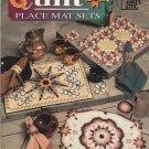 Quilt Place Mat Sets Annie's Attic 87M32 Plastic Canvas 6 designs place mats coasters & napkin rings