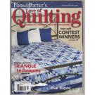Fons & Porter's Love of Quilting – January / February 2008 Triangle Technique