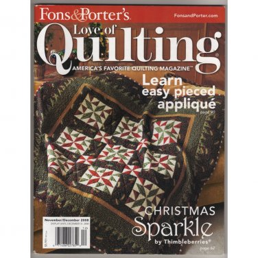 Fons & Porter's Love of Quilting � November / December 2008 - Learn easy pieced applique