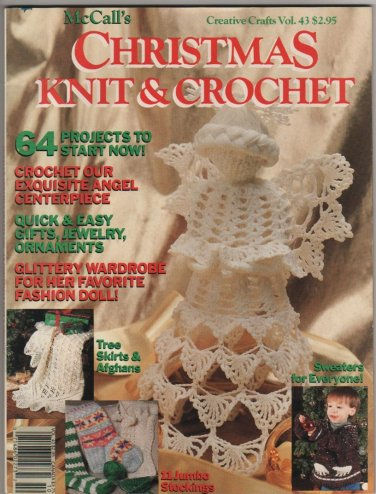 McCall's Christmas Knit & Crochet Creative Crafts Vol. 43 1990 Fashion Doll Clothes, Gifts