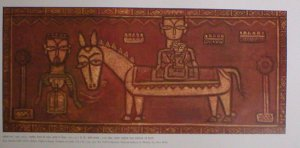 "Jamini Roy ""Flight to Egypt"" Indian contemporary art Bengal School"