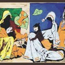 """Mother"" by M.F.Husain Signed limited edition Serigraph Indian Contemporary art"
