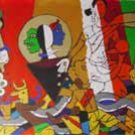 """Theorama-Vedic"" by M.F.Husain Signed limited edition Serigraph Indian Contemporary art"
