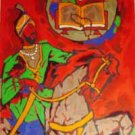 """Theorama-Sikhism"" by M.F.Husain Signed limited edition Serigraph Indian Contemporary art"