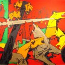 """Asoka"" by M.F.Husain Signed limited edition Serigraph Indian Contemporary art"